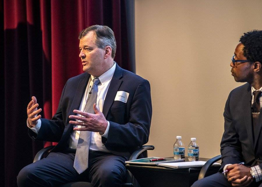 Jeff Jensen, the U.S. District Attorney for the Eastern District of Missouri at the History Museum durring FOCUS St. Louis' #STLProsecutors event. Photo by Chuck Ramsay for FOCUS St. Louis